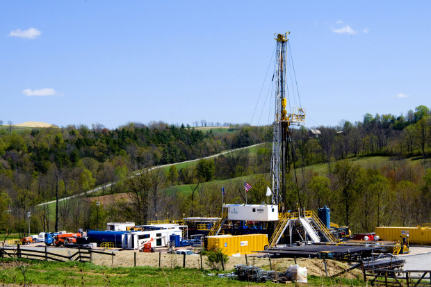 File photo. A Chesapeake Energy natural gas well site in Bradford County, PA.
