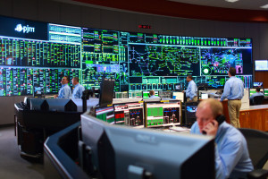 A view of the PJM  control room. The grid operator wants to allow so-called inflexible power generators such as coal and nuclear plants to be able to build their costs into market pricing.