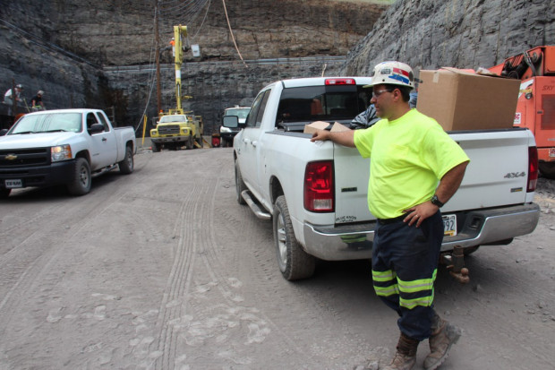 Matt Owens, the safety manager for the Acosta Deep mine says he's happy to be back at work.