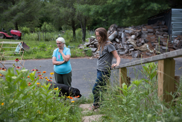 Ellen (left) and Elise Gerhart have been battling with Sunoco Logistics over the construction of the Mariner East 2 pipeline on their property in Huntingdon County, Pennsylvania.