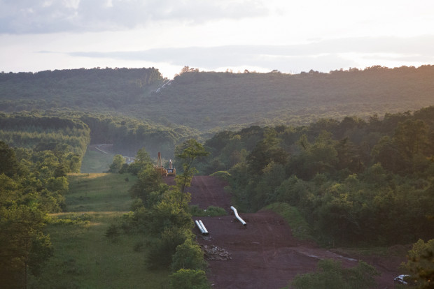 Construction of the Mariner East 2 pipeline in Huntingdon County, Pennsylvania. (Lindsay Lazarski/WHYY)