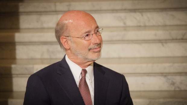 Gov. Tom Wolf said he could not remember a campaign pledge he made to join a regional effort to cap carbon emissions.