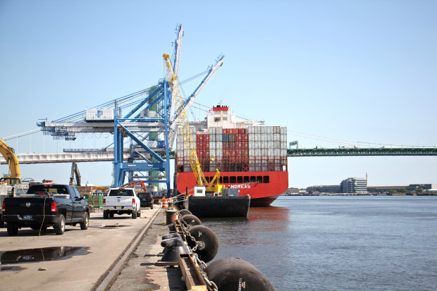 The Packer Avenue Marine Terminal on the Delaware River.