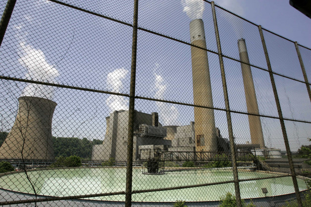 FirstEnergy's Bruce Mansfield plant in Shippingport, Pa. PHOTO: AP/Keith Srakocic