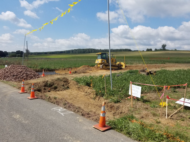 Site preparation of a compressor station in Columbia County