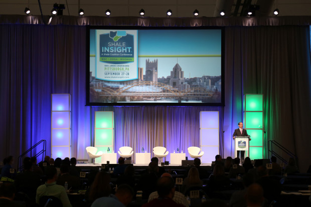 Oil and gas industry executives are gathered at the David L. Lawrence Convention Center in Pittsburgh for the annual Shale Insight conference.