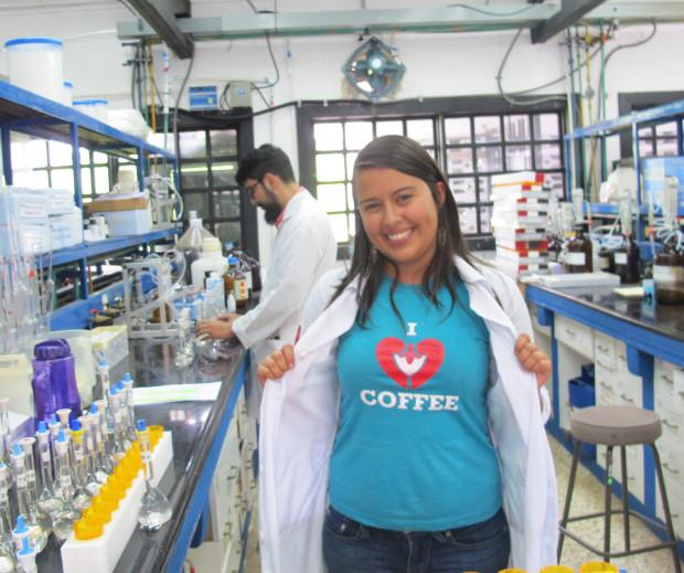 Catherine Mora Juan Carlos Alvarez, researchers Coffee Institute of Costa Rica