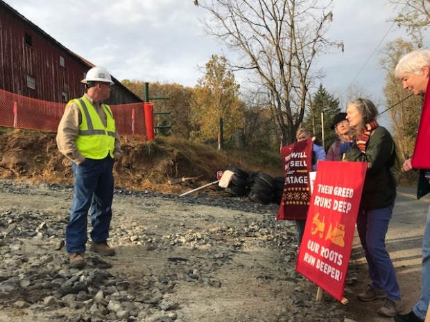 Activists in Lancaster County offered pipeline workers a pancake breakfast Friday morning, but the invitation was declined.