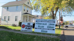 A ticket organized by plant opponents boasts five people on the ballot in next week's general election.