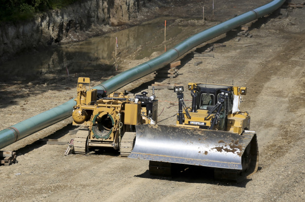 A pipeline construction site in Jackson Township, Butler County, Pa.