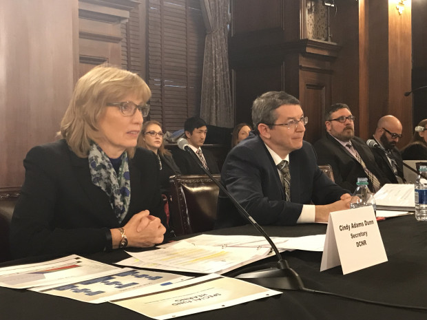 Department of Conservation and Natural Resources Secretary Cindy Dunn and Department of Environmental Protection Secretary Patrick McDonnell answered questions at a  House hearing Thursday.