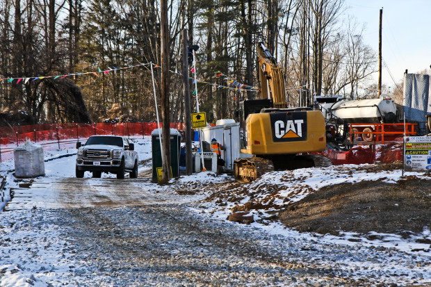Mariner East 2 construction site on Shepherd Road in Edgemont Township, Delaware County. A new report says the pipeline construction could generate $9 billion in economic benefits for the state over six years.