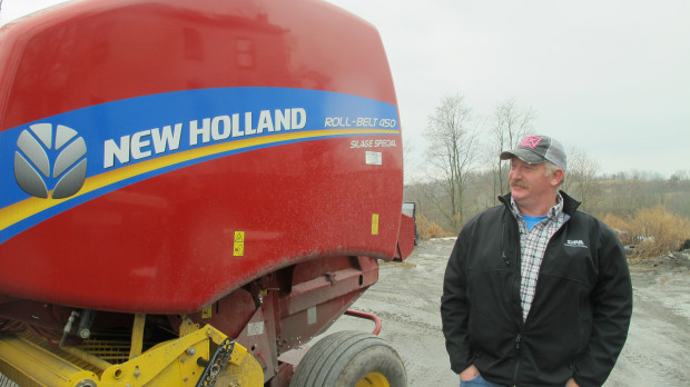 Susquehanna County resident Charlie Clark purchased a new hay baler for his dairy farm with royalty money he received from natural gas development on his land.