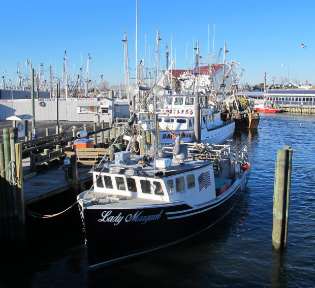 Fishing boats at the Fisherman's Coop in Point Pleasant, NJ. Trump's offshore drilling proposal is opposed by commercial and recreational fishermen, local businesses and chambers of commerce.