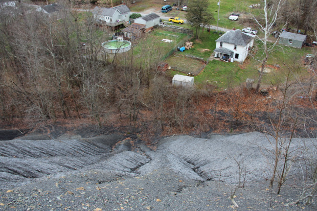 The Black Dog Hollow waste coal pile in East Bethlehem Township, Washington County. Photo: Reid R. Frazier