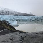 The Svínafellsjökull glacier in Iceland. Glacial retreat is among the most highly visible impacts of climate change. Since the early twentieth century, with few exceptions, glaciers around the world have been retreating at unprecedented rates.