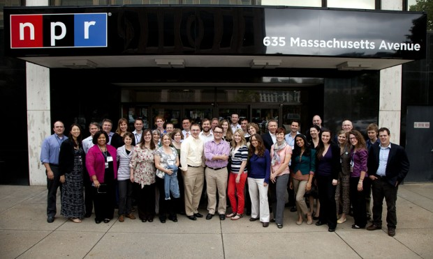The full StateImpact team in front of NPR's old HQ.
