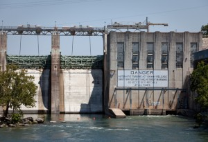 Hydroelectricity generated by Austin's Tom Miller Dam, in operation since 1940, is a renewable resource. Photo by Daniel Reese for KUT News.