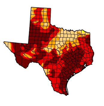 Map By National Us Drought Monitor