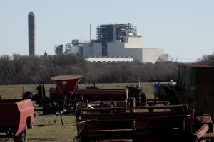 The Sandy Creek power plant as seen from a nearby ranch.