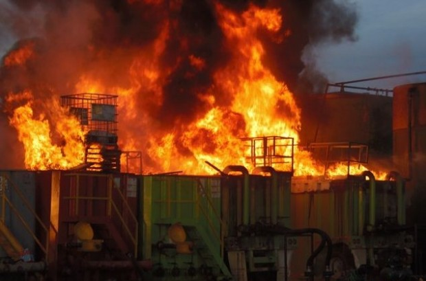 Explosion And Fire At Eagle Ford Disposal Well In Pearsall