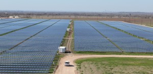 The 380-acre Webberville Solar Farm outside of Austin.
