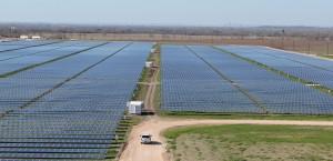 The 380-acre Webberville Solar Farm outside of Austin.