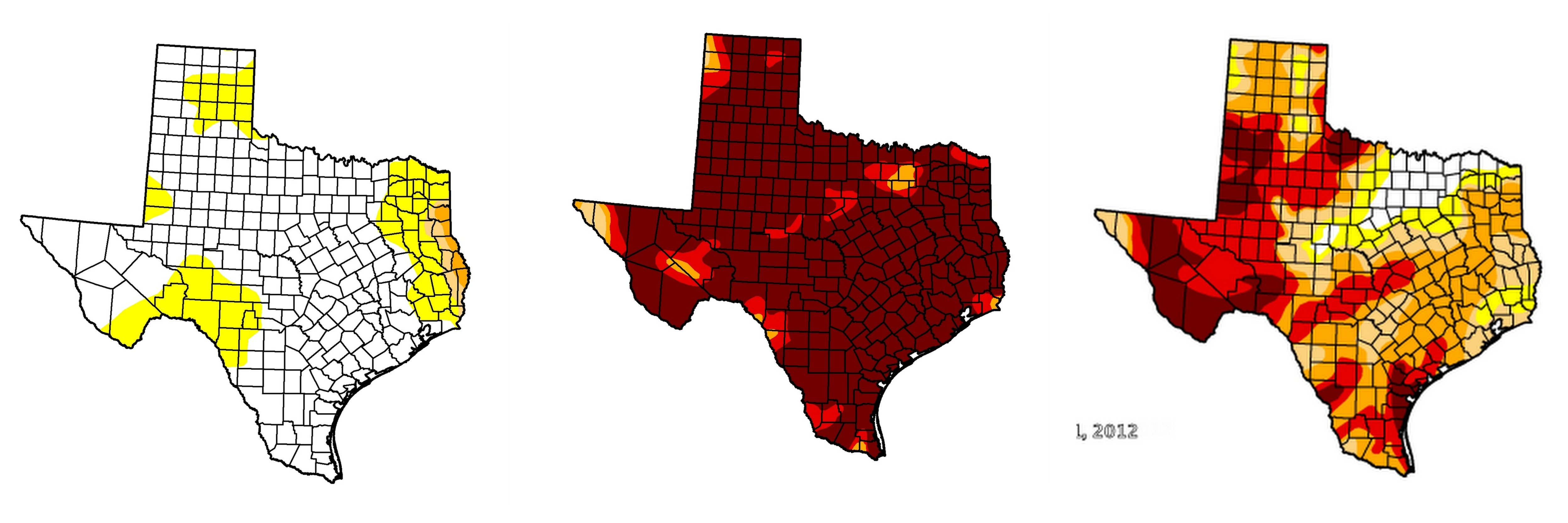 Texas Drought Map What Are the Different Levels of Drought? | StateImpact Texas Texas Drought Map