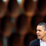 U.S. President Barack Obama spoke in Cushing about fast tracking the Keystone pipeline from Cushing to the Gulf.