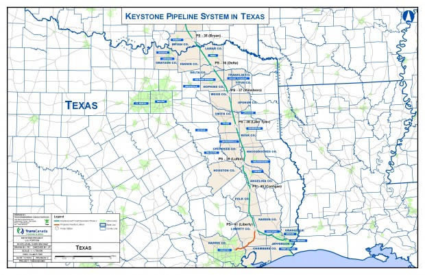 Where the Keystone XL Pipeline Would Go Through Texas | StateImpact on keystone pipeline contractors, keystone pipeline map us, new keystone pipeline revised map, arctic pipeline map, northern gateway pipeline map, middle east map, bakken pipeline map, nexus gas transmission pipeline map, keystone pipeline map ok, keystone pipeline project, et rover pipeline map, enbridge pipeline map, ogallala aquifer map, sandpiper pipeline map, barack obama map, ohio pipeline map, petroleum pipeline map, alaska pipeline map, strategic relocation north american map, north american pipeline map,