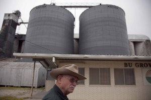 Rice farmers Billy Mann in Bay City, Texas.