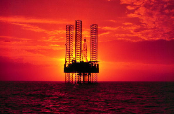 Pennzenergy Company Oil Exploration Drilling Rig In The