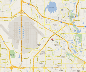 The quake struck just East of the DFW airport.