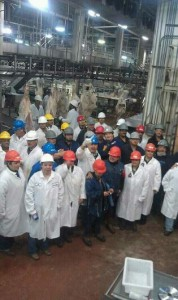 A group picture taken the day the last cow came through the Cargill Plant.