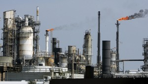 An oil refinery is pictured in Texas City, Texas. A new billed could help streamline the greenhouse gas permitting process.