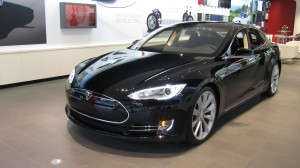 The Tesla S at the company's showroom in Austin.