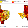 Some of the Texas panhandle drought conditions worsened in the past week, according to maps from the U.S. Drought Monitor.