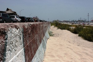 The Galveston Seawall was built to protect a portion of the Island after the massive hurricane of 1900
