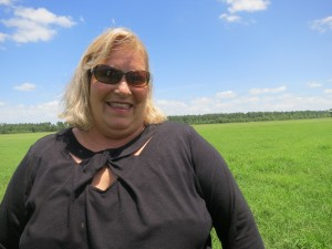 Margaret O'Keefe at her farm in Jefferson County.