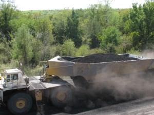Coal on its way to Luminant's Big Brown power plant in Freestone County