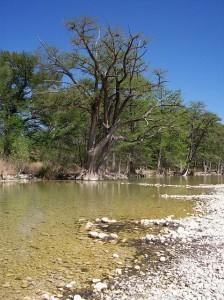 A shallow stretch of the Frio River.