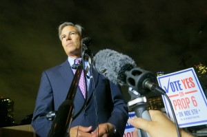 Speaker Joe Straus speaking on the passage of Prop 6 in Austin Tuesday evening.