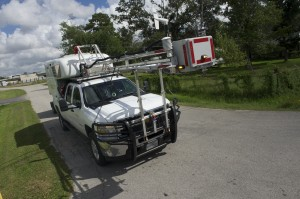 A pickup truck equipped to detect pollution is a project of Rice University and the University of Houston
