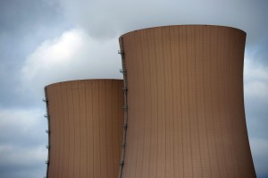 Cooling towers of a nuclear power plant in Grohnde, Germany. An interim charge for the Texas legislature could change the United States' management of nuclear waste.