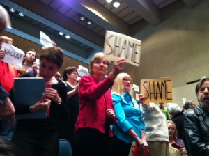 Citizens opposed to gas drilling in Dallas made their voices heard about Trinity East's plans during city meetings