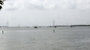 Texas leases submerged coastal land for oil & gas wells and also wildlife projects