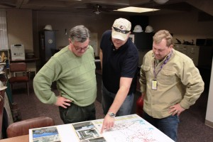 Fort Worth now has it's own office for gas drilling. Inspectors (L to R) Rick Trice, Will Ray and Tom Edwards