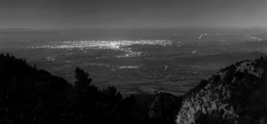 A view of Los Angeles from Mount Wilson in 1908.