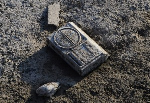 An old radio lies in the mud exposed after the water has gone at Lake Arrowhead State Park near Wichita Falls, Texas, in September 2013