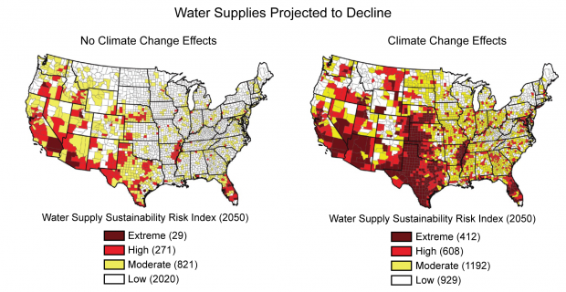 Water resources will continue to decline as the earth gets warmer, leading to more conflicts over a resource we already do not have enough of.